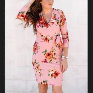 Reborn j Lauren dunkleman floral dress blush